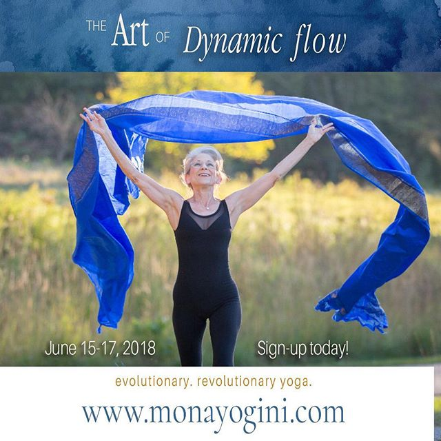 """Mona Yogini offering """"The Art & Science of Dynamic Flow."""" Explore the science behind this Vinyasa flow practice and discover the art to designing sequences which results in specific psychological effects.  Learn more: https://bit.ly/2HRvKWa  #yoga #yogaeverydamnday #vinyasaflow #yogini #minnesotayoga #mankatomn #yogaweekend #liveyourbestlife #yogainspiration #minneapolisyogi #vinyasa #namaste"""