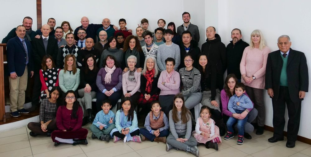 The congregation of Chiesa Riformata Filadelfia in Novate Milanese (Milano)