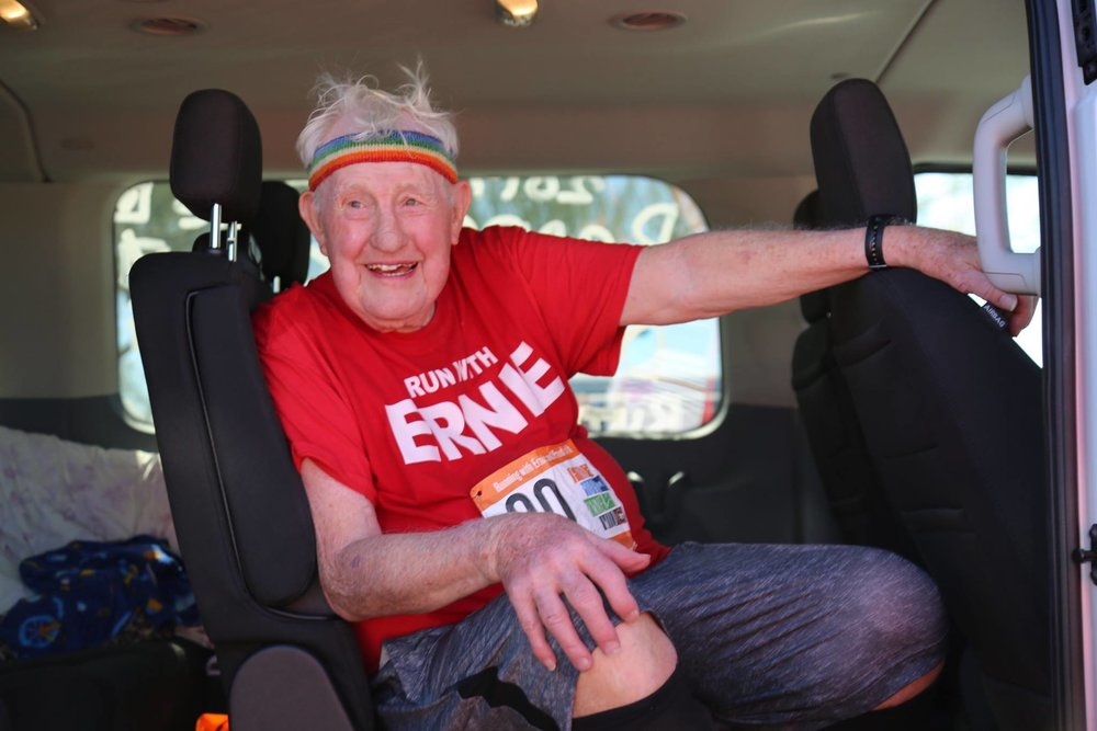 93- Year Old Ernie Andrus - In Feb. 2017, I had the honor of meeting, interviewing and telling the story of 93-year-old, WWII Veteran and Ragnar runner, Ernie Andrus during Reebok Ragnar Del Sol. The photo-journlism stories about his journey and advice to others were the most liked, shared and commented on social post in the history of Ragnar. We also created a mini-documentary and supported the story with blog posts, social content and a #GoErnie hashtag.