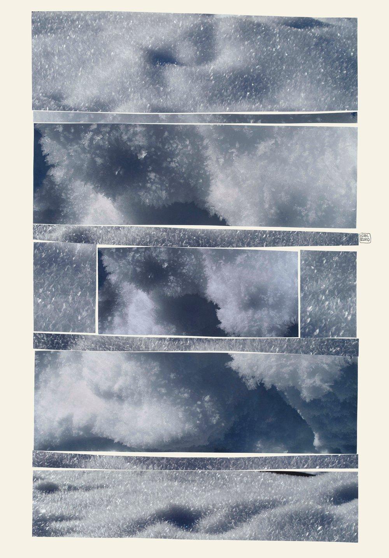 Les Poètes du Dôme se sont inspirés de mon collage 'Neige' - HiatusCascade en sourdineprise au duvet acéréd'infimes abîmes.Christian Roy -11 avril 20181 /6 poèmeshttp://lespoetesdudome.over-blog.com/tag/poesie%20et%20collage/