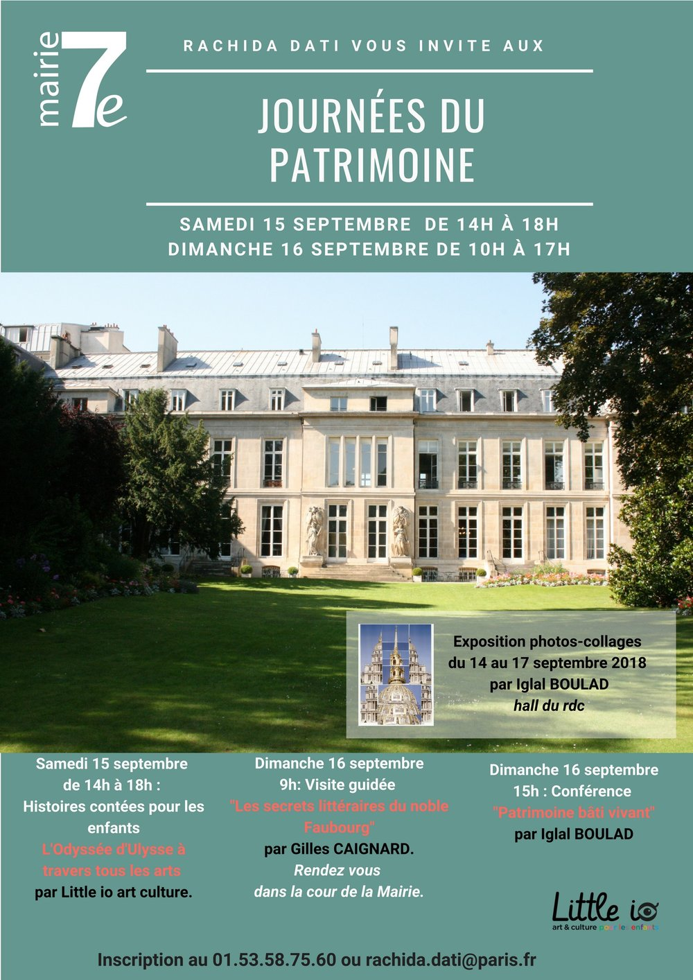 Patrimoine bâti vivant - Paris Mairie 7èExposition collages du 14 au 17 septembre 2018Conférence 16 septembre 2018 à 15h