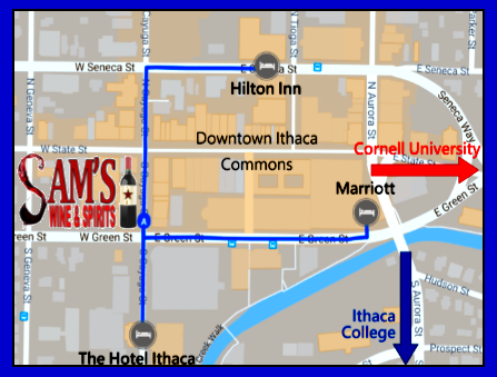 - Sam's is nearby many downtown hotels.