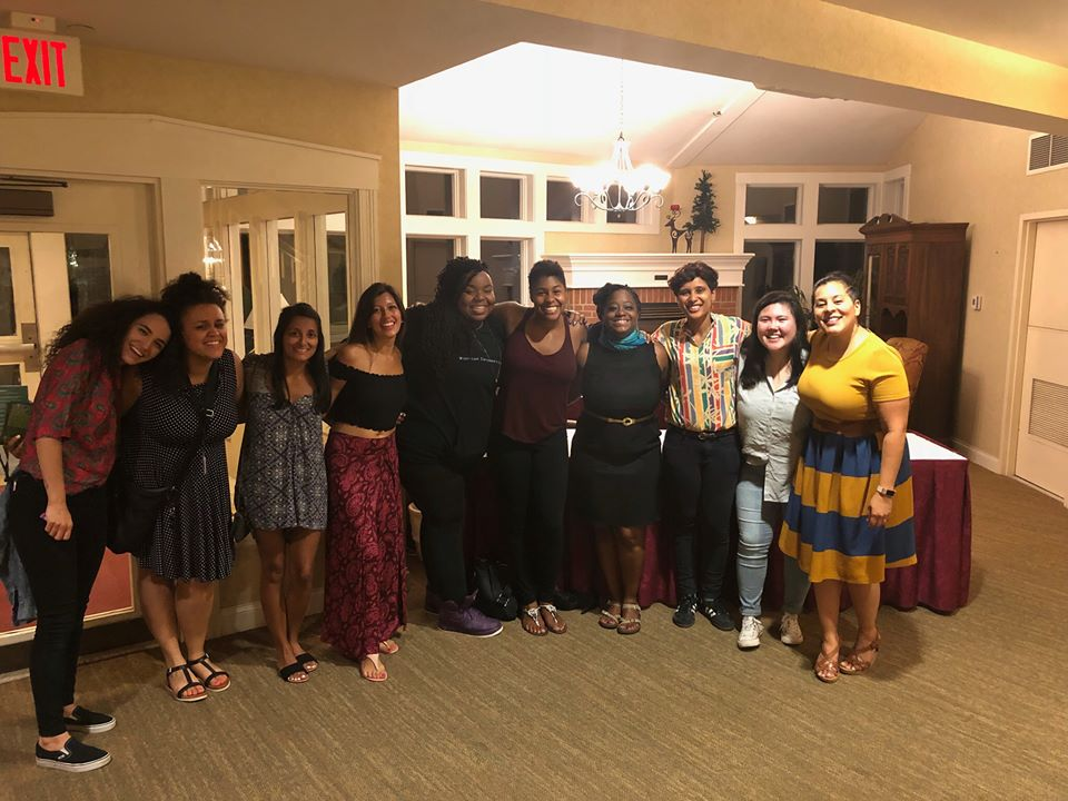 With staff from the PACT Family Camp for transracial adoptees in Stowe, Vermont.