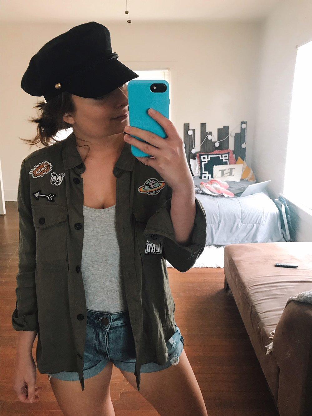 hat  |  tank  |  shorts