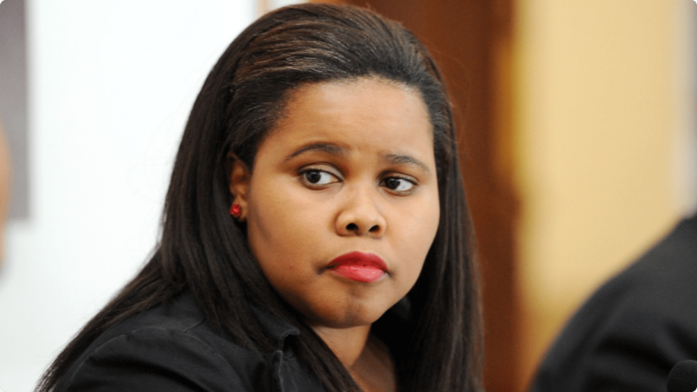 Lindiwe Mazibuko,  South African politician and the former Parliamentary Leader for the opposition Democratic Alliance (DA)