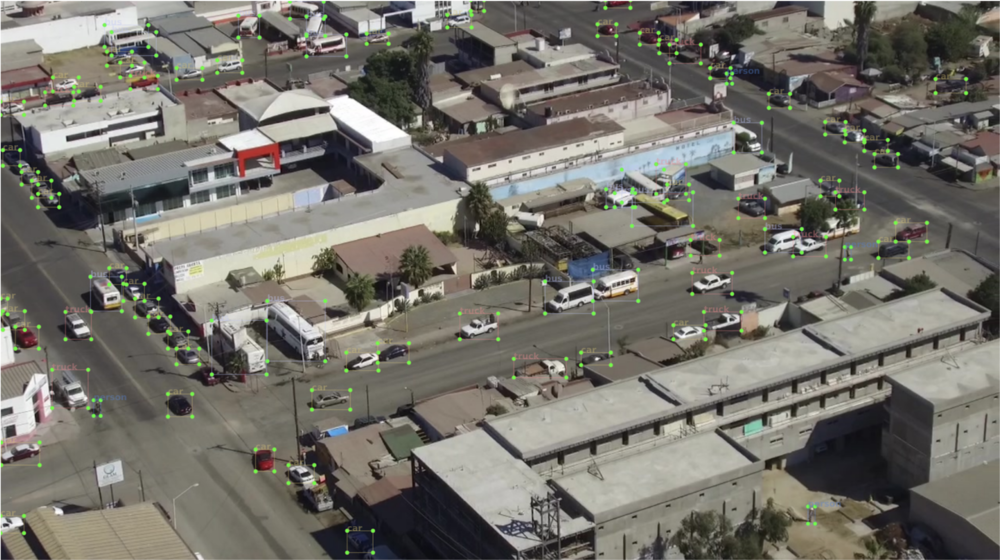 Object detection from a drone