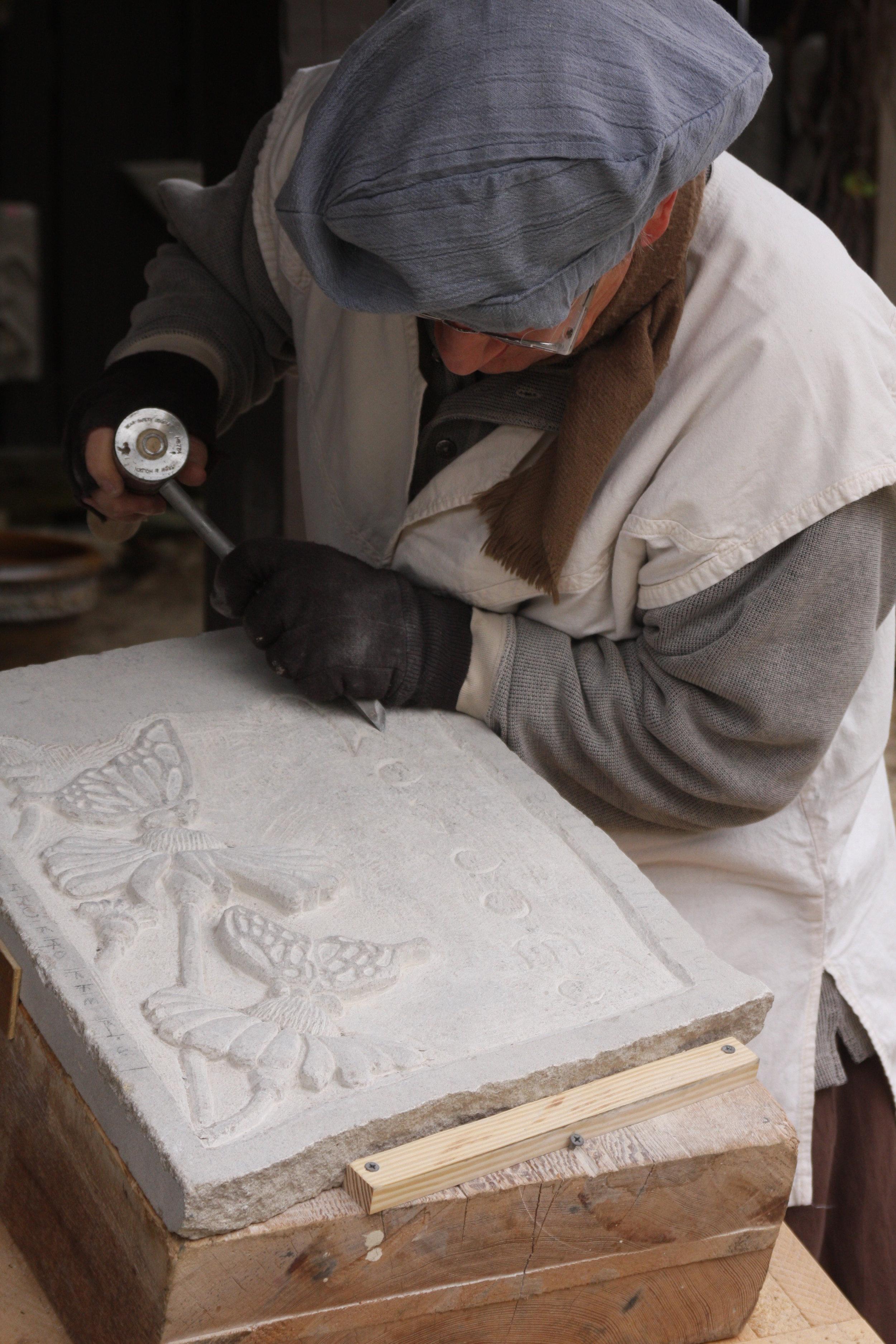 An Artisan at Work: Carving Stone