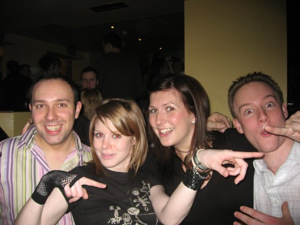 And this is me (somewhat embarrasingly) on a night out with my coursemates. I always have loved a lot of jewelry!
