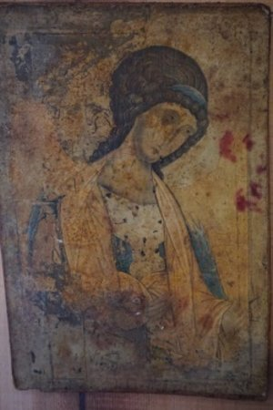 Painting of Our Lady on wood.jpg