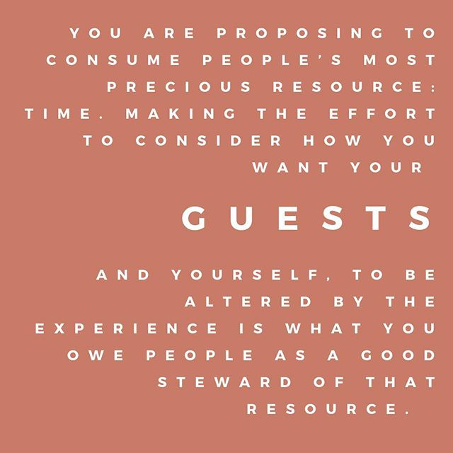 "How are you consuming others' most precious resource?⠀ ⠀ Just finished reading @priyaparker's remarkable book, ""The Art of Gathering,"" that brings to light so much intentionality and presence in gathering people. It reminded me how much joy I derive from bringing people together (typically around food!), and also how precious our time really is.⠀ ⠀ My love language, hands down, is Quality Time, and this book made me ask myself, What kind of quality am I looking for in the time I spend with others? And what kind of quality are others, both professionally and personally, looking for in the time they spend with me?⠀ ⠀ I've learned so much in this first (almost) year of business, having spent over 120 hours in the company of my guests, and I hope that I can continue to become a better, more present steward (a.k.a. a host!) of those who choose to gather with me.⠀ .⠀ .⠀ .⠀ .⠀ #theartofgathering #sfeventplanning ⠀"