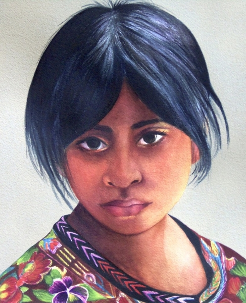 Chica-con-Pelo-Negro.-Museum-quality-gold-framed-Watercolor-on-Arches-Paper-22-inches.jpg