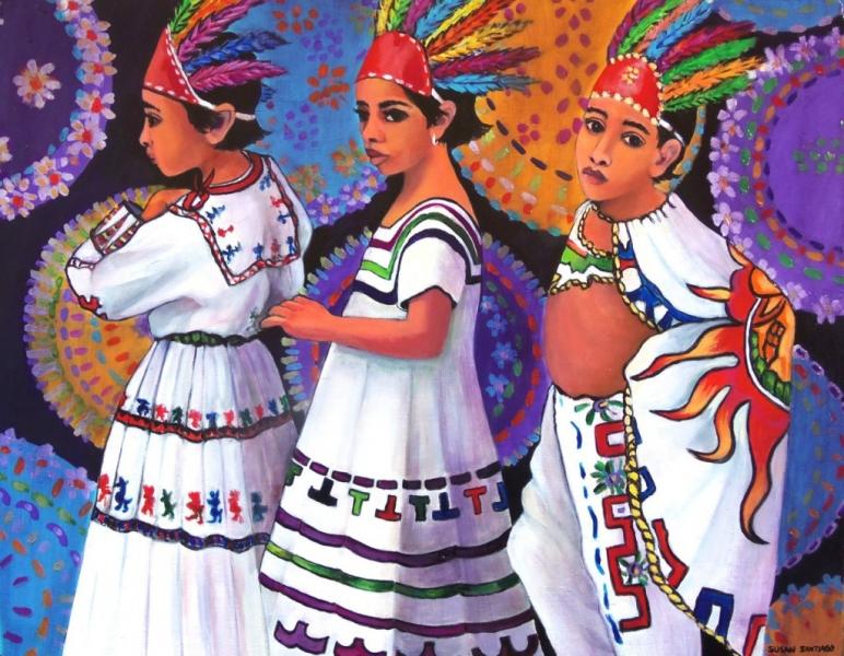 Los-Pequeños-Guerreros-Acrylic-on-Masonite-framed.jpg