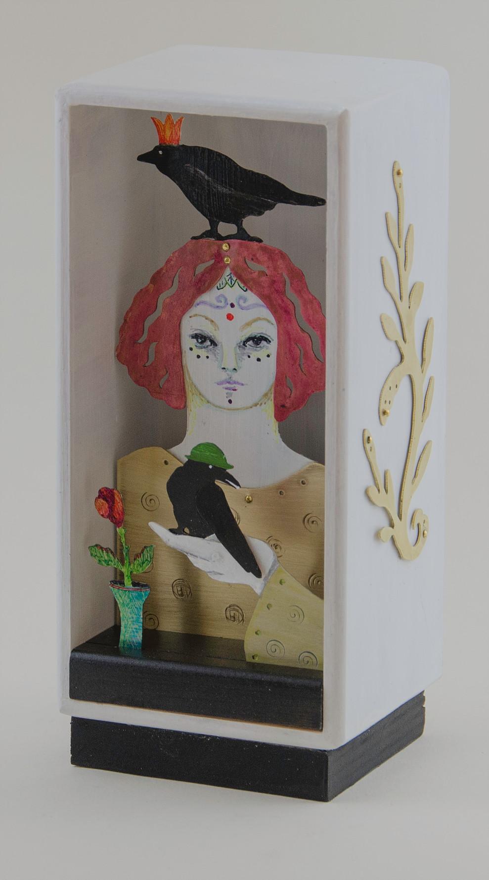 Red Hair, Green Hat, Gold Crown - 6.5_ H x 3_ W x 2.5_ D   .jpg_; filename_=UTF-8''Red Hair%2c Green Hat%2c Gold Crown - 6.5_ H x 3_ W x 2.5_ D   .jpg