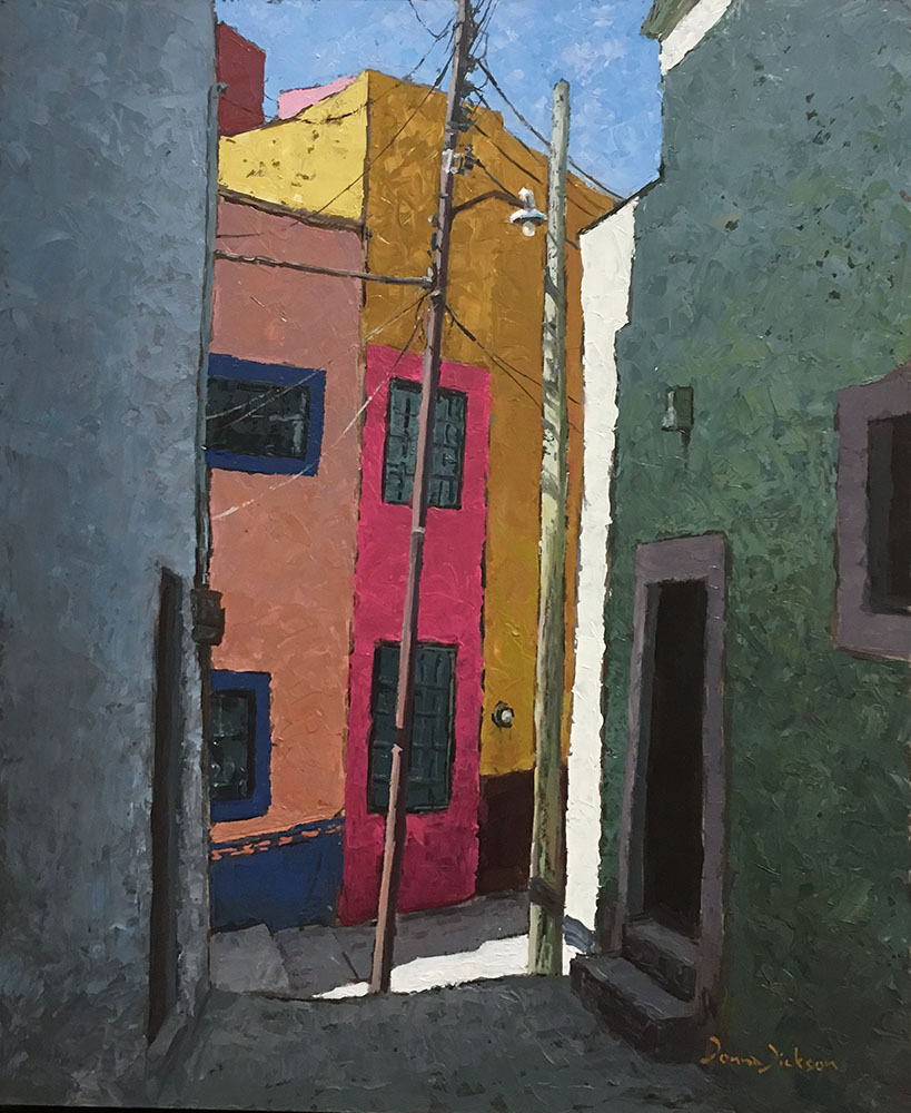 COLOURFUL CASAS Gto., 24 x 19 in. oil on panel, Donna Dickson, $950.jpg