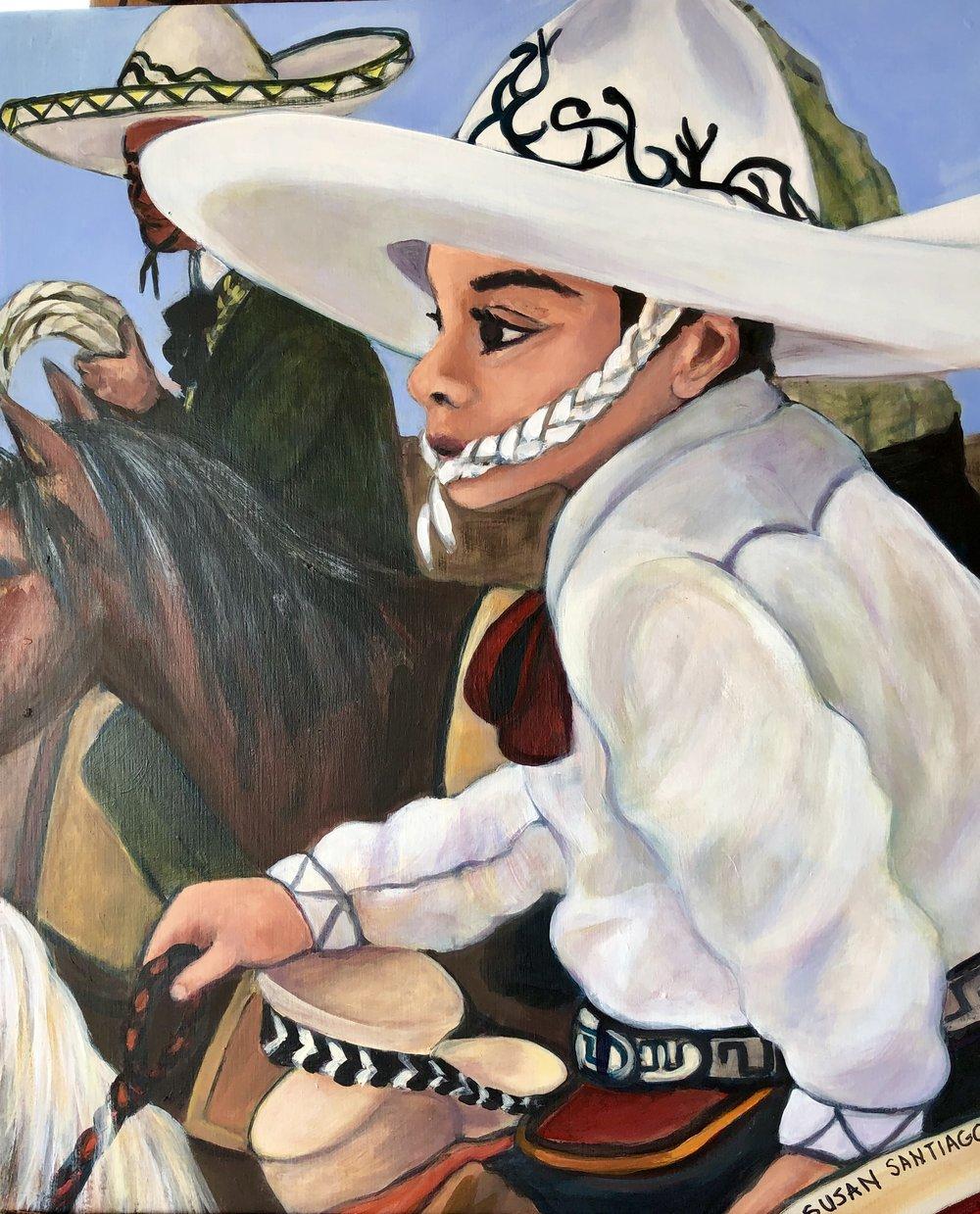 Vaquero - Susan Santiago- Acrylic on Wood Panel 17 inches x 20 $500 USD.jpg
