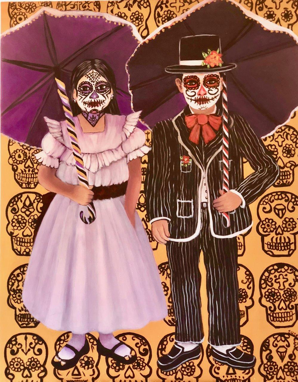 Susan Santiago Dia de Los Muertos- 20 x 24 inches  Acrylic on Wood Panel $850 USD.jpg