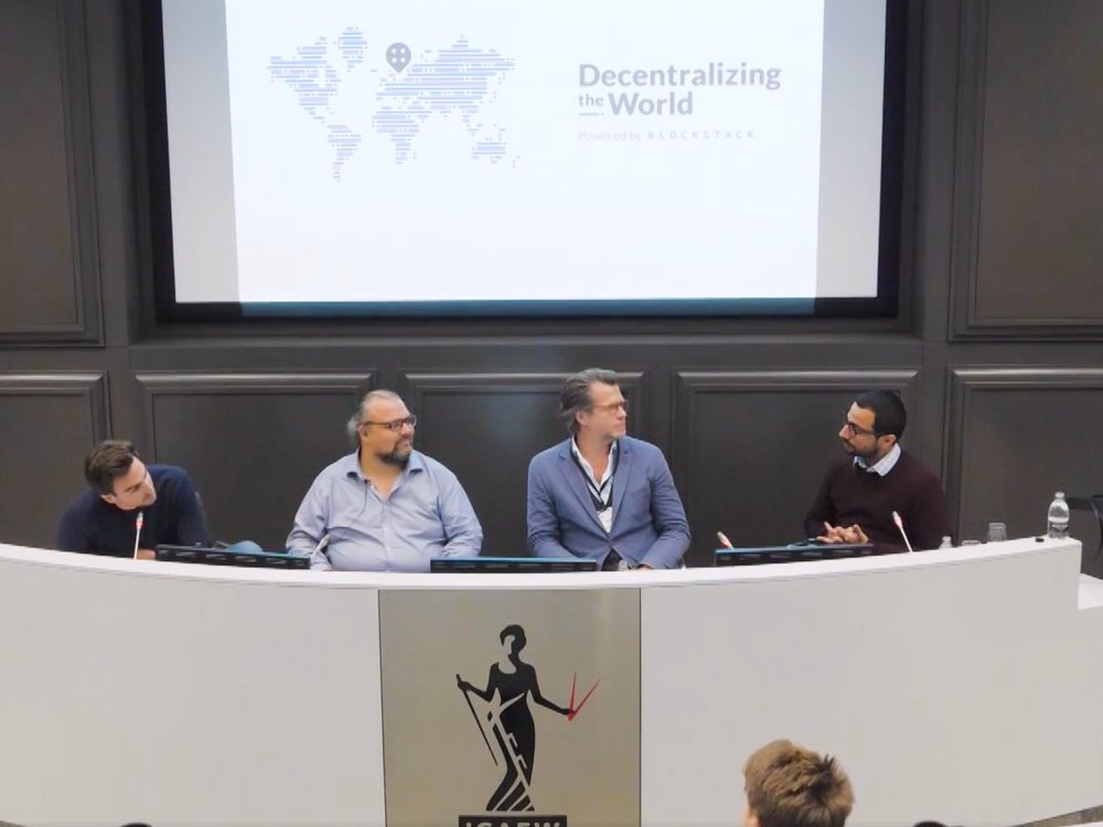 Decentralising the World - Blockstack - - London -We talked cryptoeconomics with Vinay Gupta, David Fauchier & the Blockstack crew