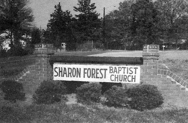 Sharon Forest Baptist Church Old Signage