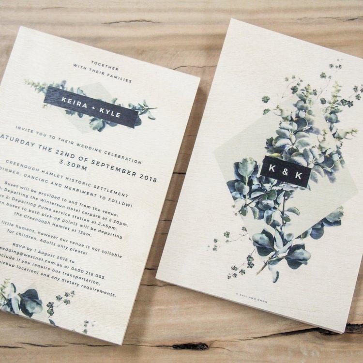 A5   148mm x 210mm Portrait or landscape Classic large invitation size Fits in C5 envelope