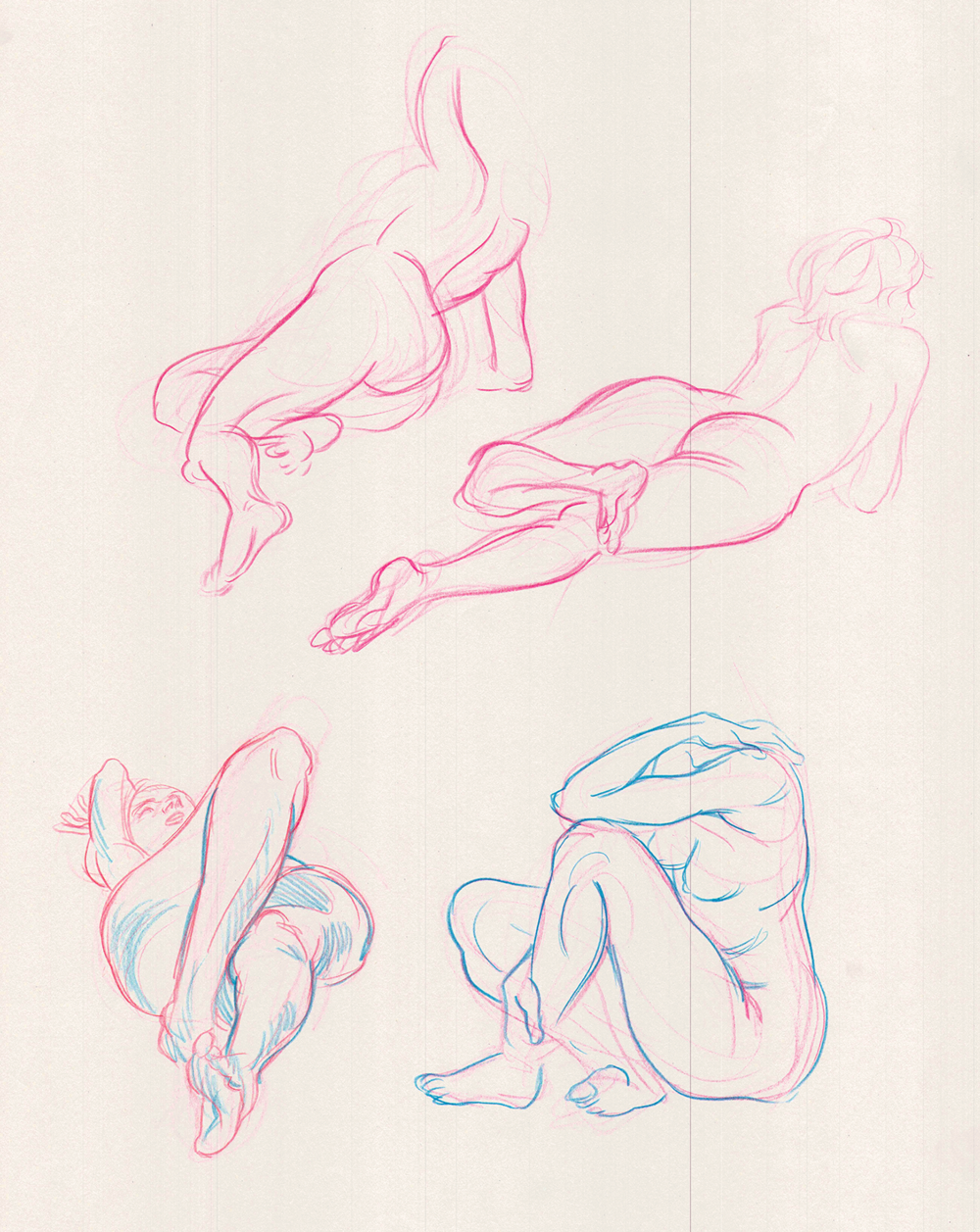 Figure Drawing  Pencil on Newsprint  18 x 24 in.