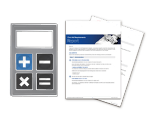 Click the calculator to start your First Aid Requirements assessment