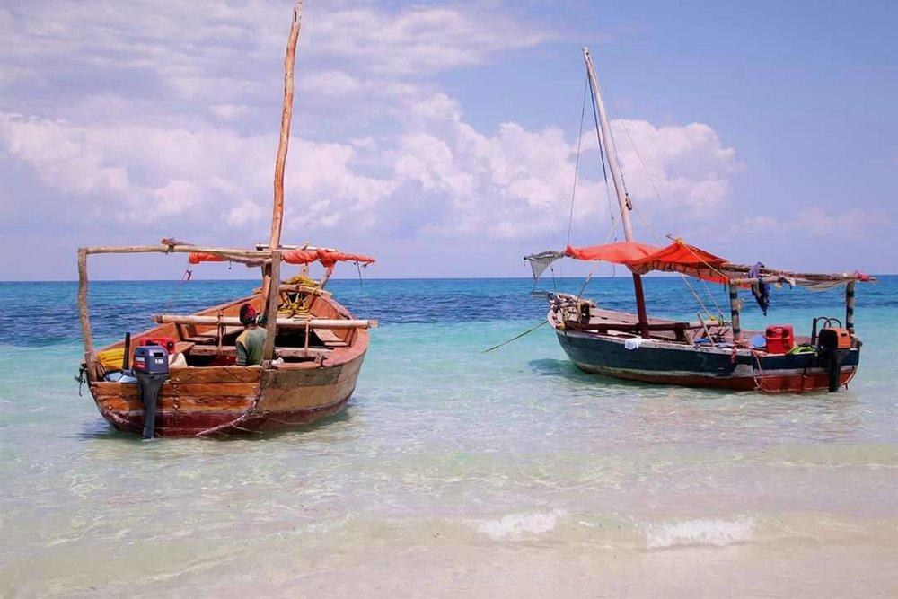 Nungwi Beach Boats.JPG