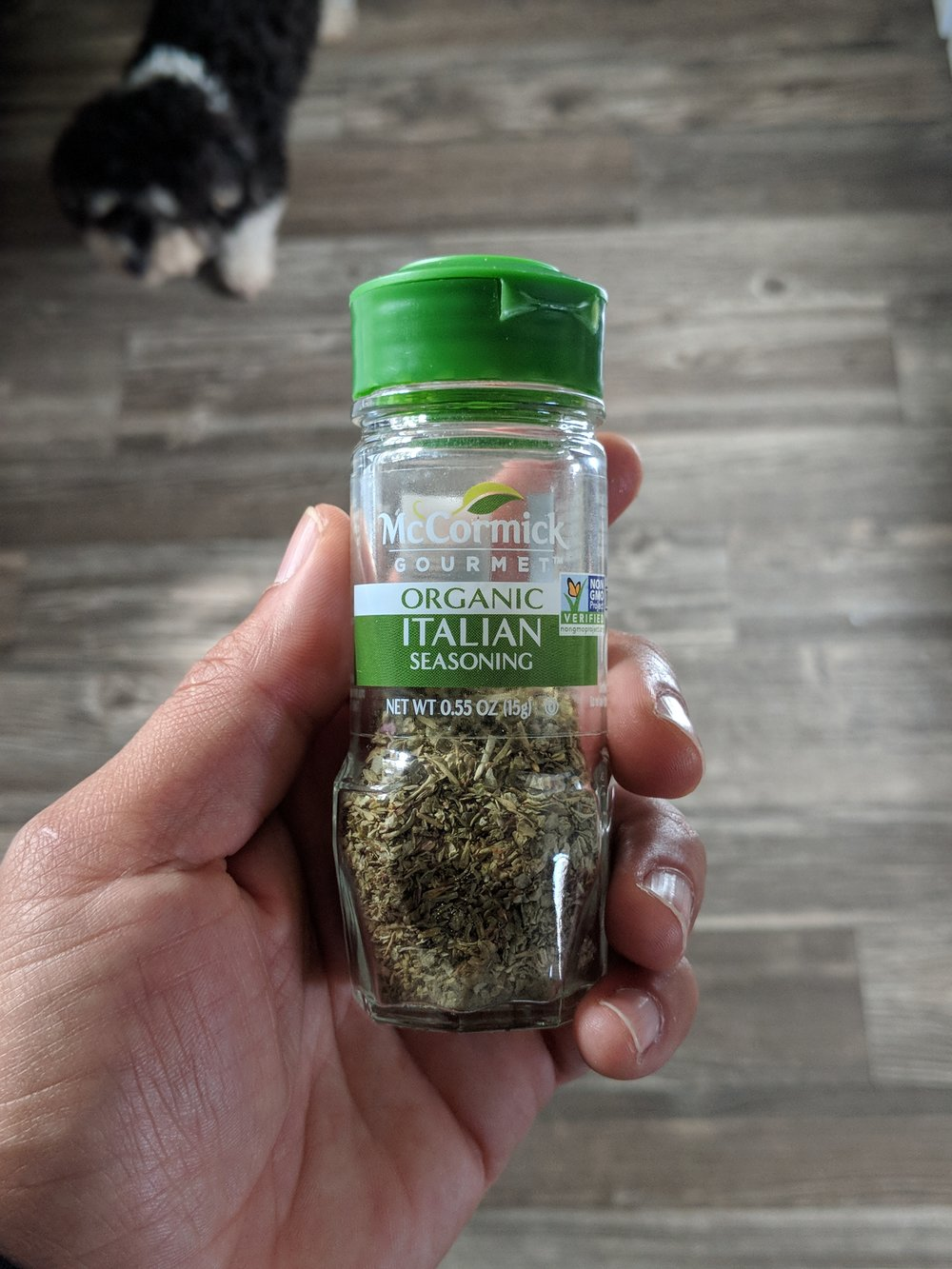 Italian Seasoning - A blend of common spices used in Italian dishes, like any pasta sauce.