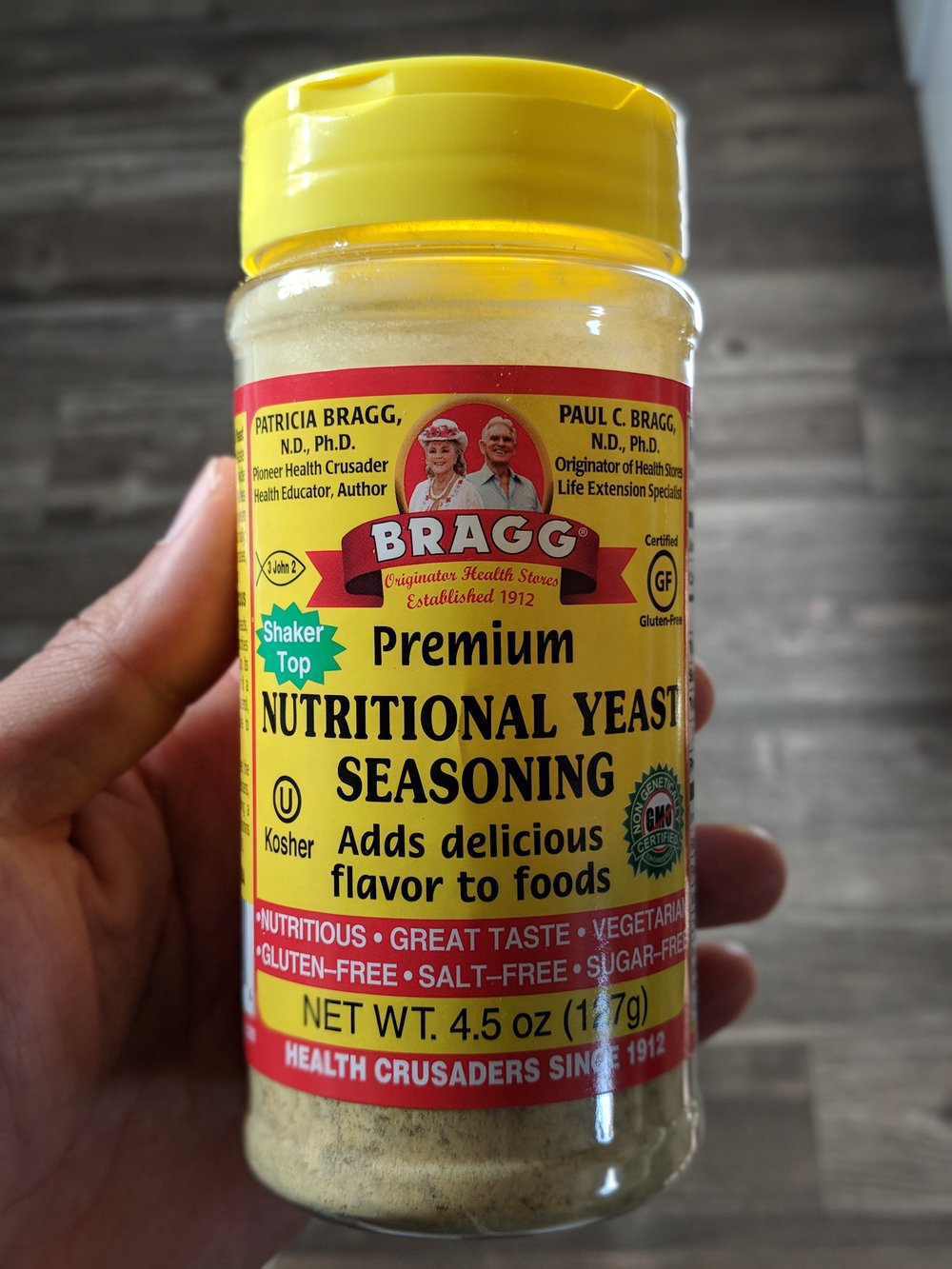 Nutritional Yeast - If you need to add a cheesy flavor to your dishes. Add it to soup for another layer of flavor. It also has B12.