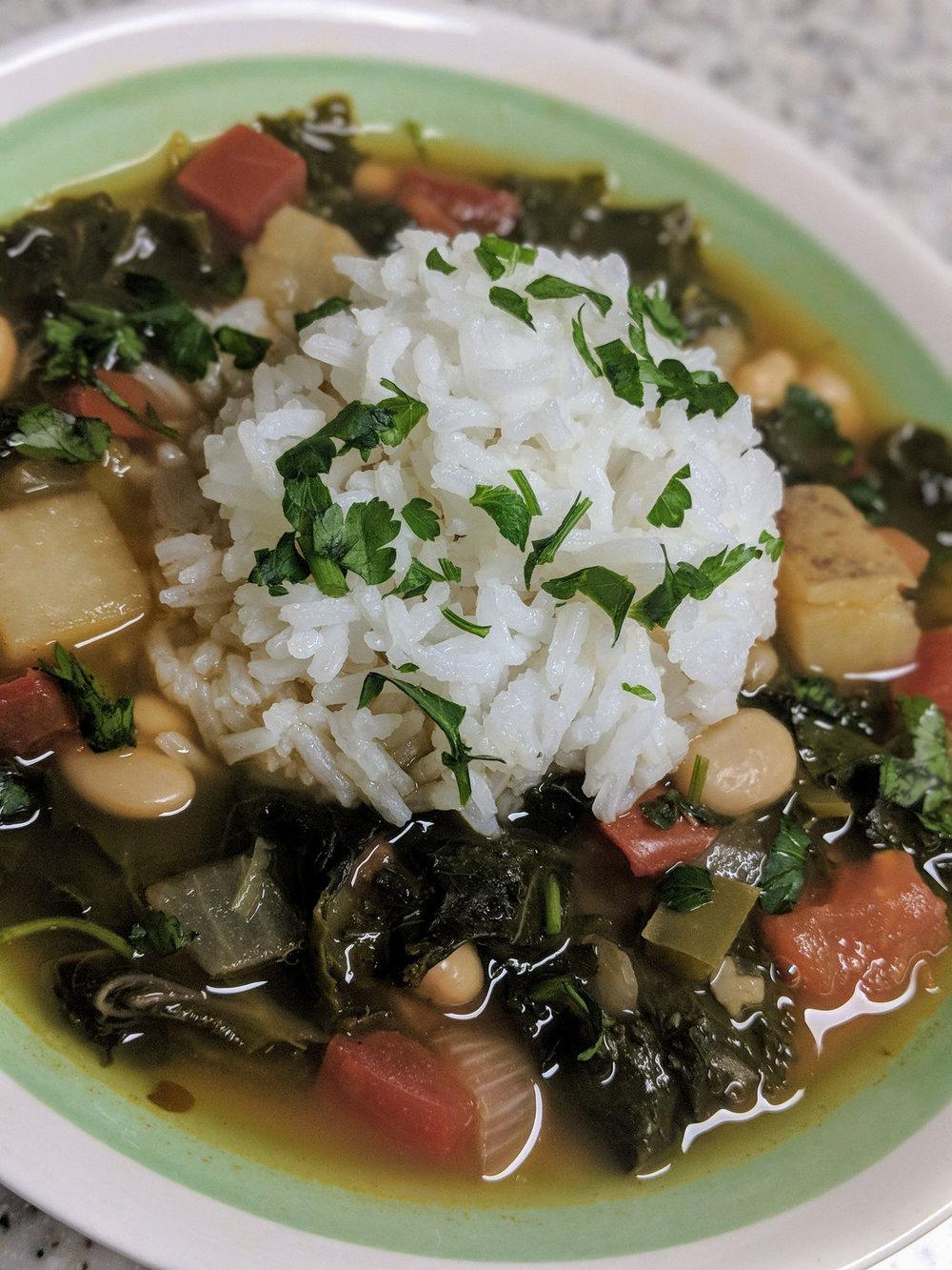 White Bean and Kale Soup -