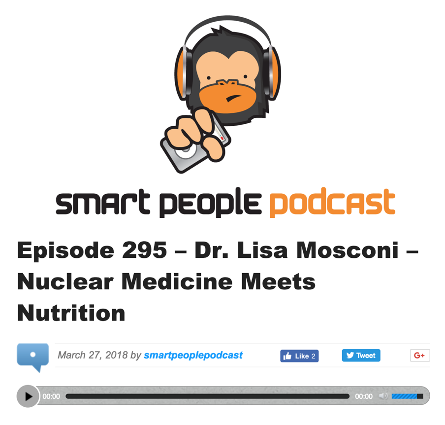 Dr. Lisa Mosconi: Nuclear Medicine Meets Nutrition - Like our bodies, our brains have very specific food requirements. In this episode of Smart People podcast, we speak with Dr. Lisa Mosconi, who is both a neuroscientist and a certified integrative nutritionist, as she explains what should be on our menu.
