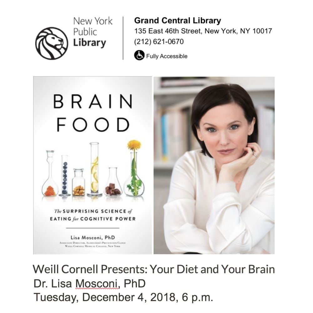 NY Public Library — Free Event - Weill Cornell Medicine Wellness SeriesIf You Could See the Future, What Would You Have for Dinner?