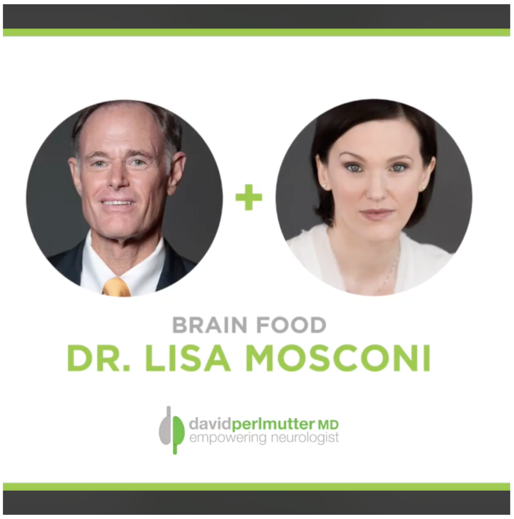 "The Empowering Neurologist with Dr. Perlmutter - ""I think will really enjoy this interview and learn about her new book, Brain Food, which not only looks at nutrition but also leverages the science of nutritional genomics, and even the emerging science relating to the role of the microbiome in brain health. The book provides recommendations that we can all use with respect to the foods we eat and, interestingly, she does challenge some of our long-held notions.I hope you enjoy this discussion.""Link is here"
