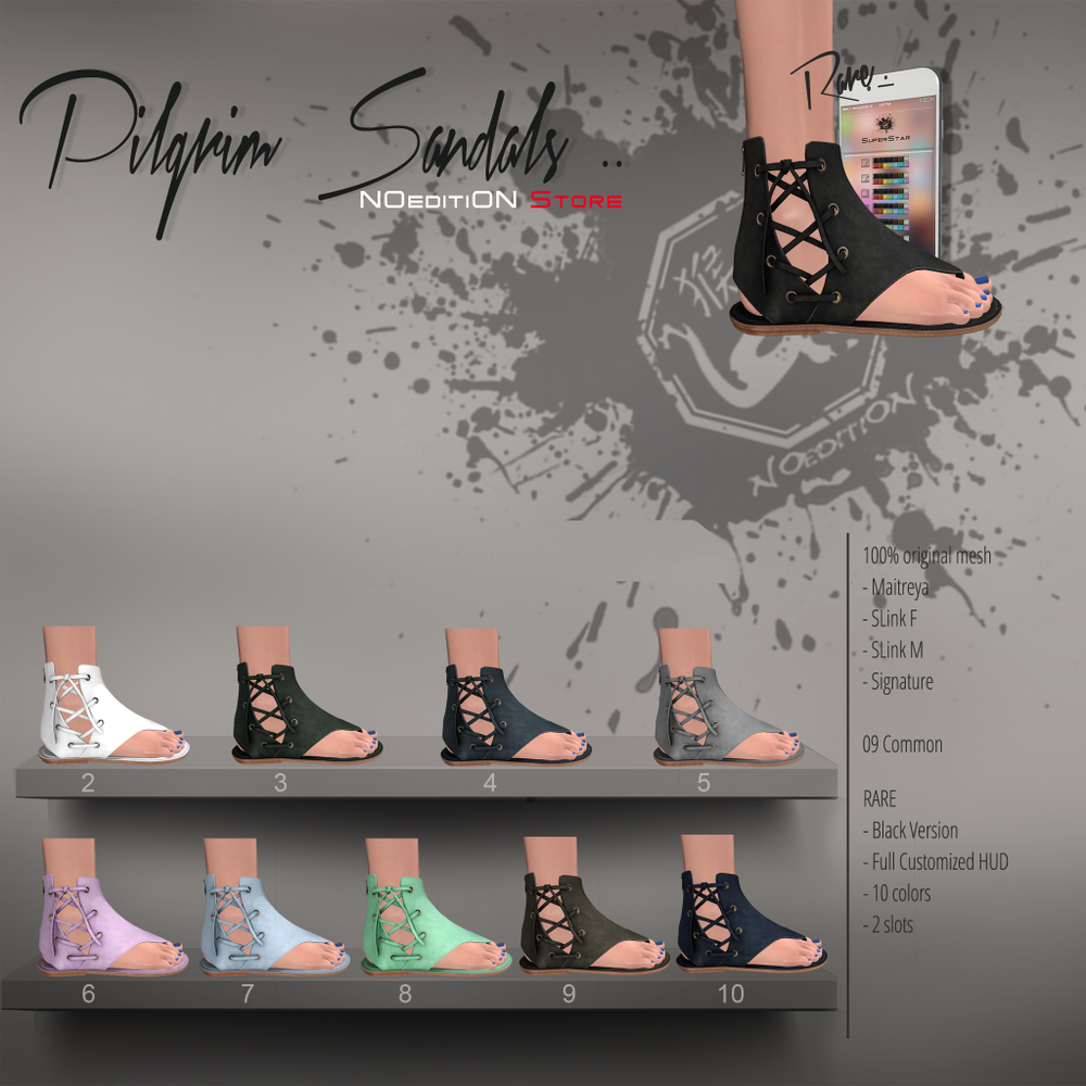 -NOeditiON- Pilgrim Sandals Gacha Key.png