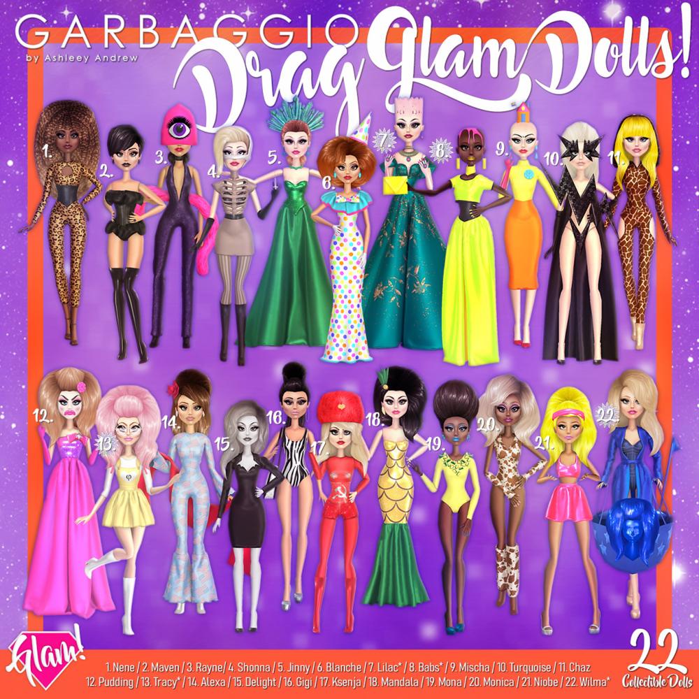 Garbaggio Drag Glam Dolls Gacha Key.png