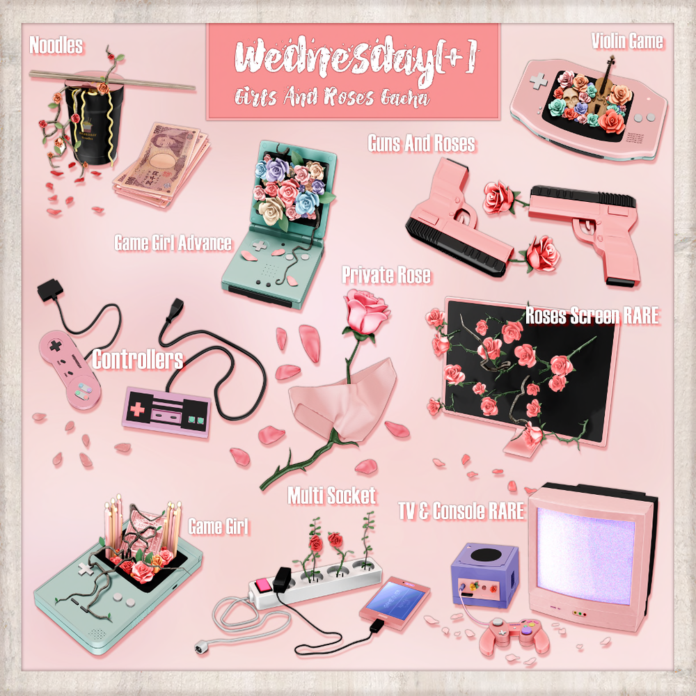 Wednesday[+] ~ Girls And Roses - Gacha Key 1024.png
