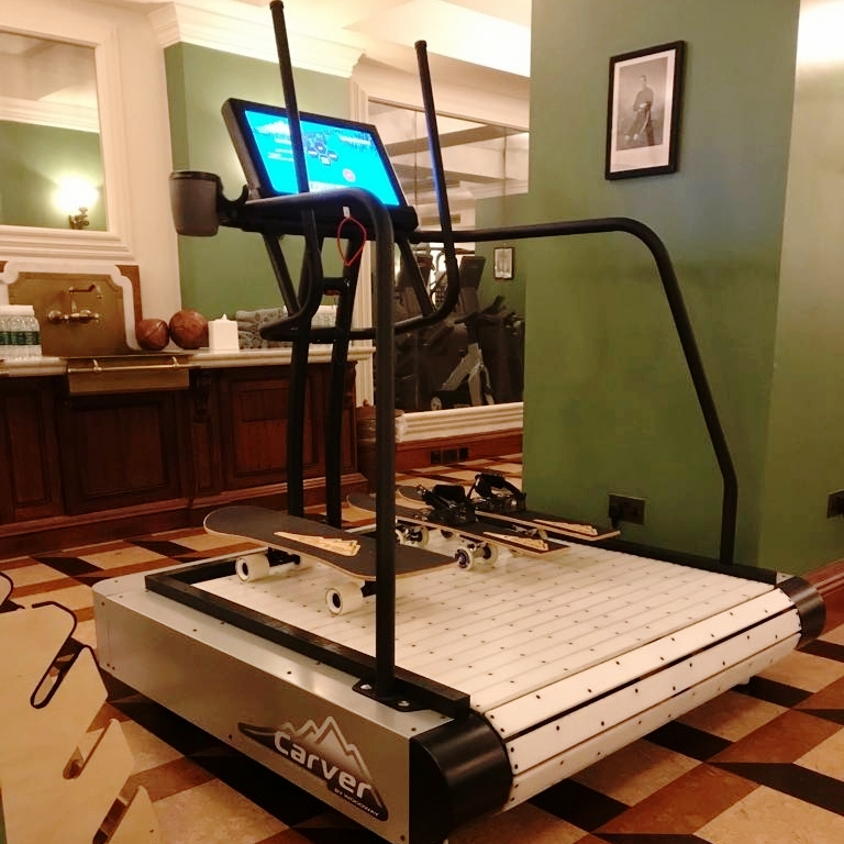 Ski treadmill at The Ned, London