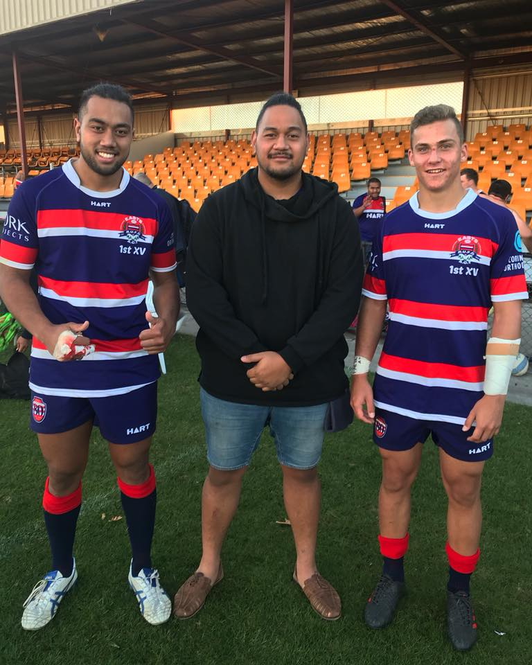 Langi and Dom supporting Todd McManus on his 1st grade Debut. Congrats Todd!