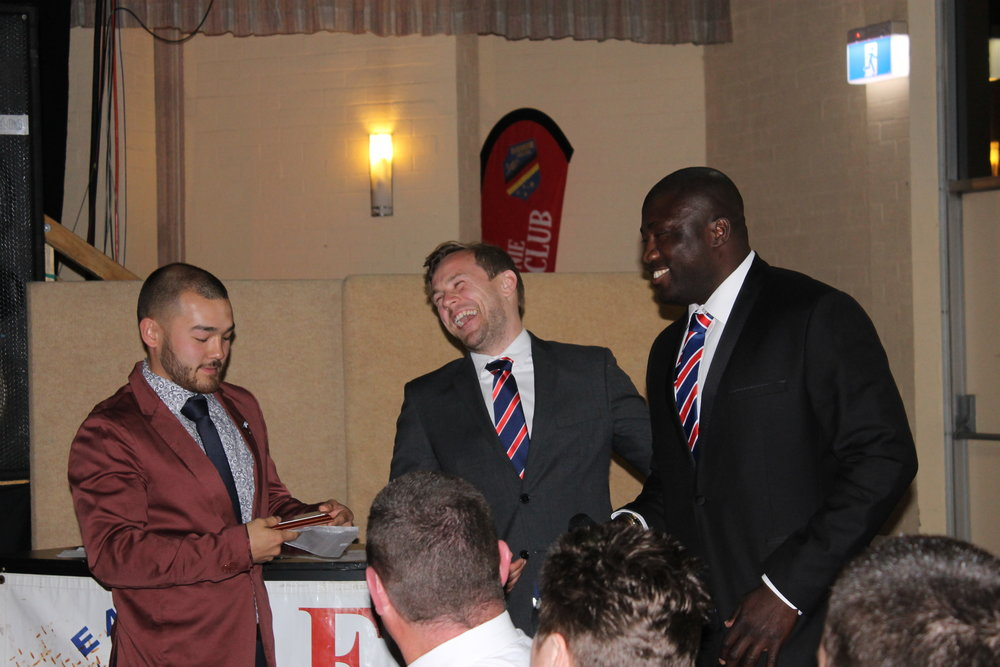 Club Captain Simon Webber, Lachlan Glen and Augustine Limaleba