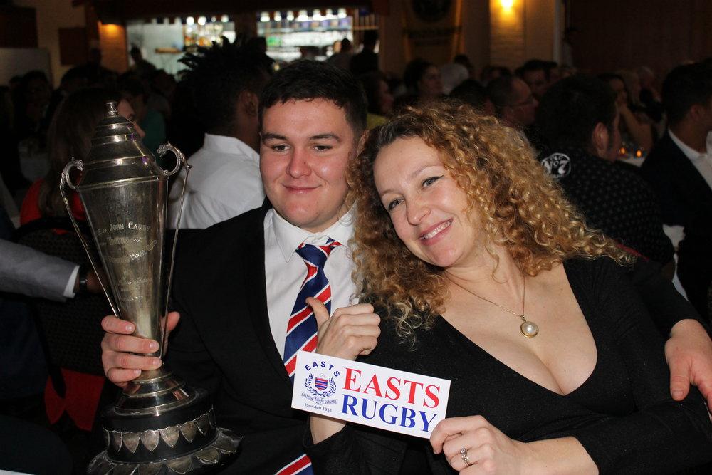Liam Bilston (best U21 Player) and Bronwyn Wetherall