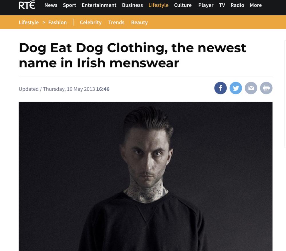 Dog Eat Dog (Oisín Hunt) featured in RTE