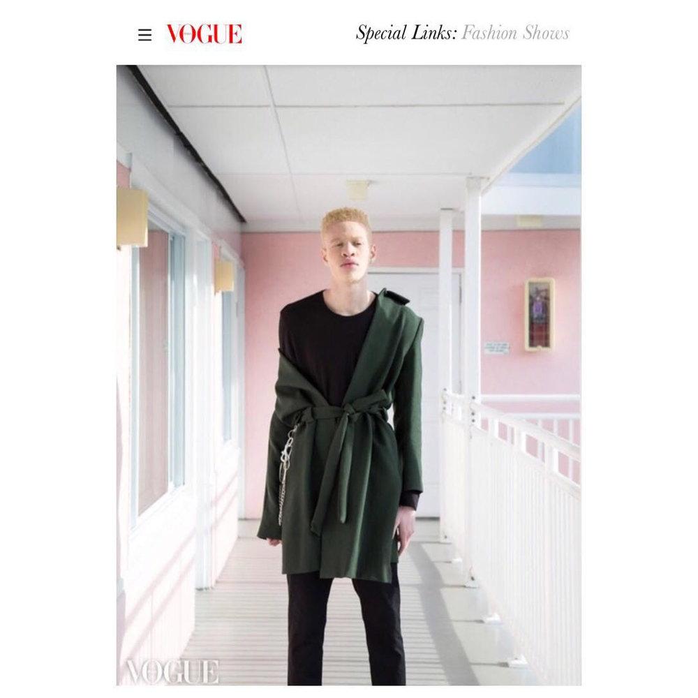 Oisín Hunt Autumn / Winter '18 featured in Vogue Italia