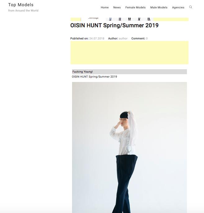 Oisin Hunt SS19 on Top Models