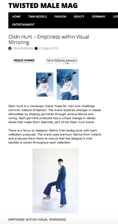 SS19 on Twisted Male Magazine