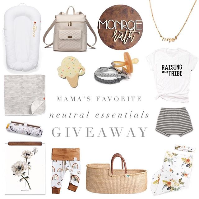 NEXT.... @jaysandjewels  We've teamed up with a few of our fave shops + bloggers to give ONE winner this bundle with mama's fave neutral essentials!  To enter -  1. Like each photo & be following us  2. Head to @jaysandjewels  3. Follow 1-2 steps until you get back here  That's it!🤞🏻 Giveaway will end on Wednesday, 7/25. This giveaway is not sponsored by Instagram. Must be 18 years or older to enter. Open to entrants within the US!