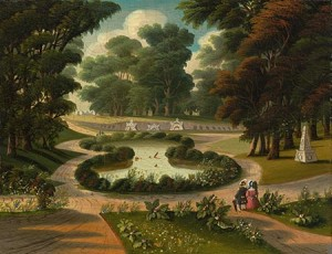 """Mount Auburn Cemetery"" by Thomas Chambers; Courtesy of National Gallery of Art"
