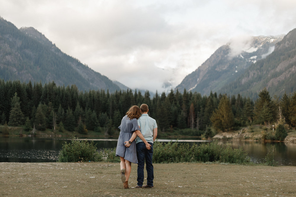 Gold Creek Pond Engagement Session. Between the Pine Adventure Wedding and Engagement Photography