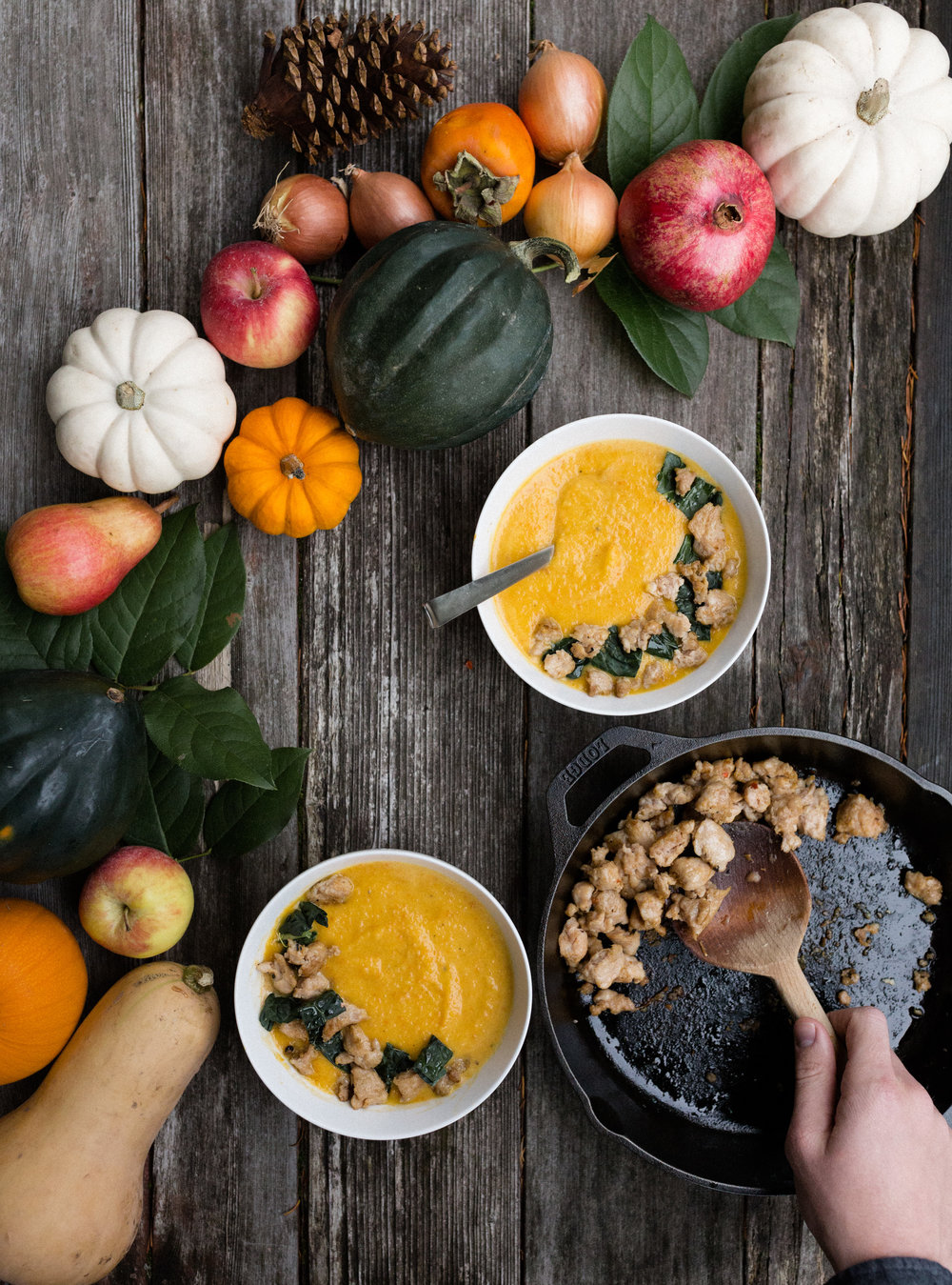 acorn squash soup- Between the Pine