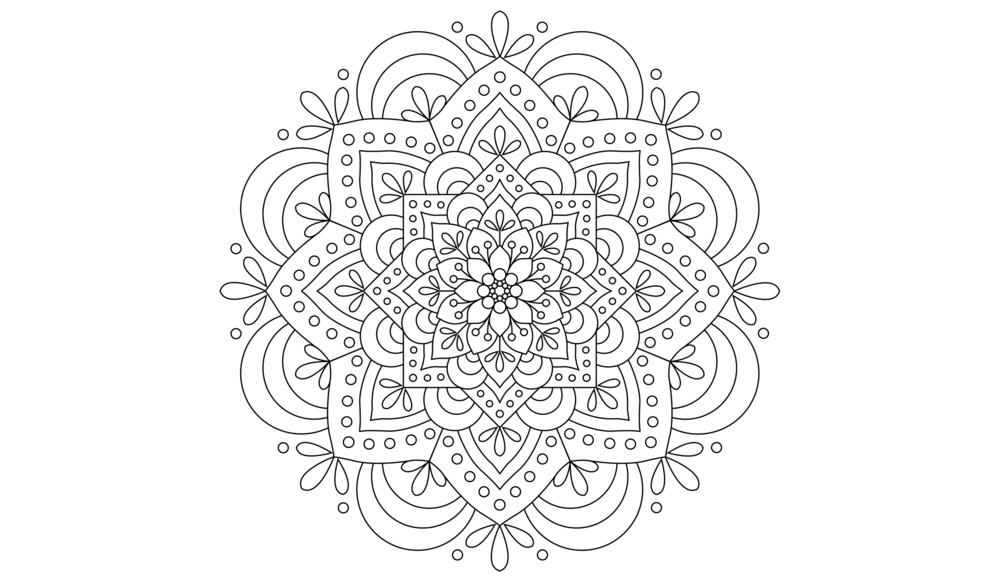 Mandala - Mandala is a word that comes from Sanskrit, an ancient language of India. It is a round figure which represents the universe.