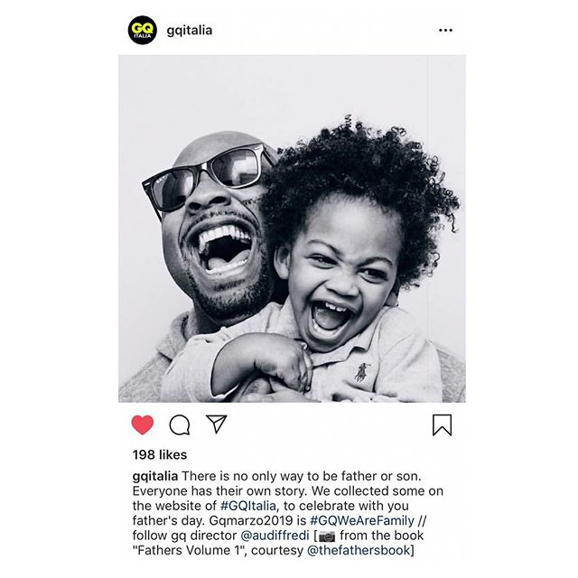🇮🇹 @GQItalia.  Thank you to @audiffredi EIC of GQ Italia for your vision. | #thefathersbook #fathers #fortheculture #GQWeAreFamily | To purchase FATHERS, use the code FATHERS2019 for 20% off.