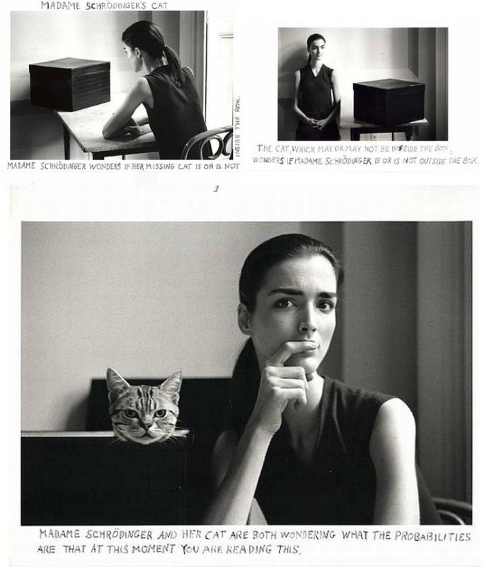 Duane Michals – Madame Schrödinger's Cat , 1998.